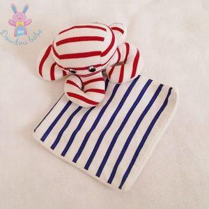 Doudou Pieuvre mouchoir rayé blanc bleu rouge ARMOR LUX