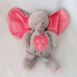 Doudou éléphant gris rose étoiles 30 cm SIMBA NICOTOY