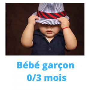 GARCON 0/3 MOIS