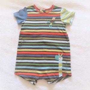 Combishort rayé multicolore bébé garçon 6 MOIS CATIMINI