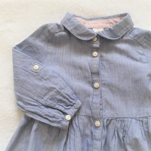 Robe légère bleu argenté bébé fille 12 MOIS H&M