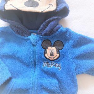 Gilet à capuche polaire bleu Mickey bébé garçon 6 MOIS DISNEY
