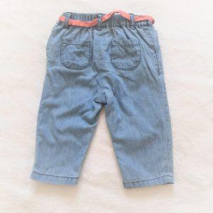 Pantalon jean bleu doublé bébé fille 9 MOIS SERGENT MAJOR