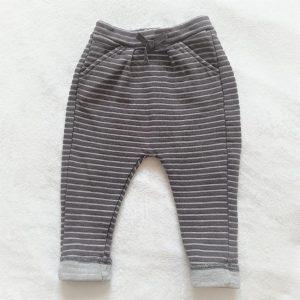 Pantalon sarouel rayé gris argenté bébé fille 9 MOIS TAPE A L'OEIL TAO