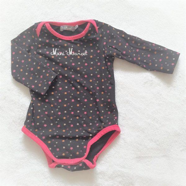 Body manches longues noir étoiles bébé fille 6 MOIS MINI MARCEL